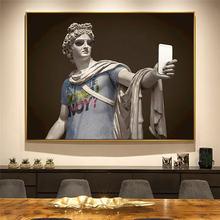 Скульптуры Аполлона одеты как хипстеры холст настенная живопись