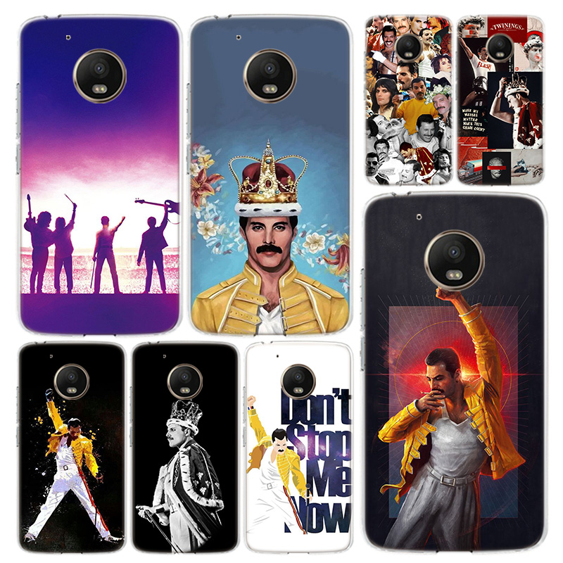 Queen Freddie Mercury Phone Case Cover For Motorola Moto G8 G7 G6 G5 G5S G4 E6 E5 E4 Power Plus Play One Action Macro Vision Coq