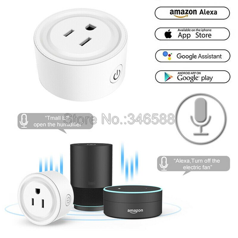 Magic Home Smart WiFi Socket US Plug Socket Adaptor with Timer on and off Alexa Google Home Voice Wireless Remote Control 10A