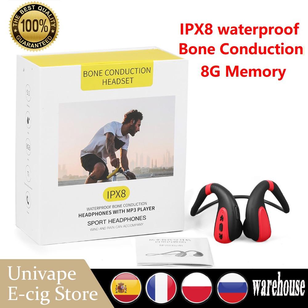 IPX8 Swimming Music Player Waterproof 2 in 1 Headset 8G MP3 Memory   Bluetooth Wireless Phone Headphones Bone Conduction Version