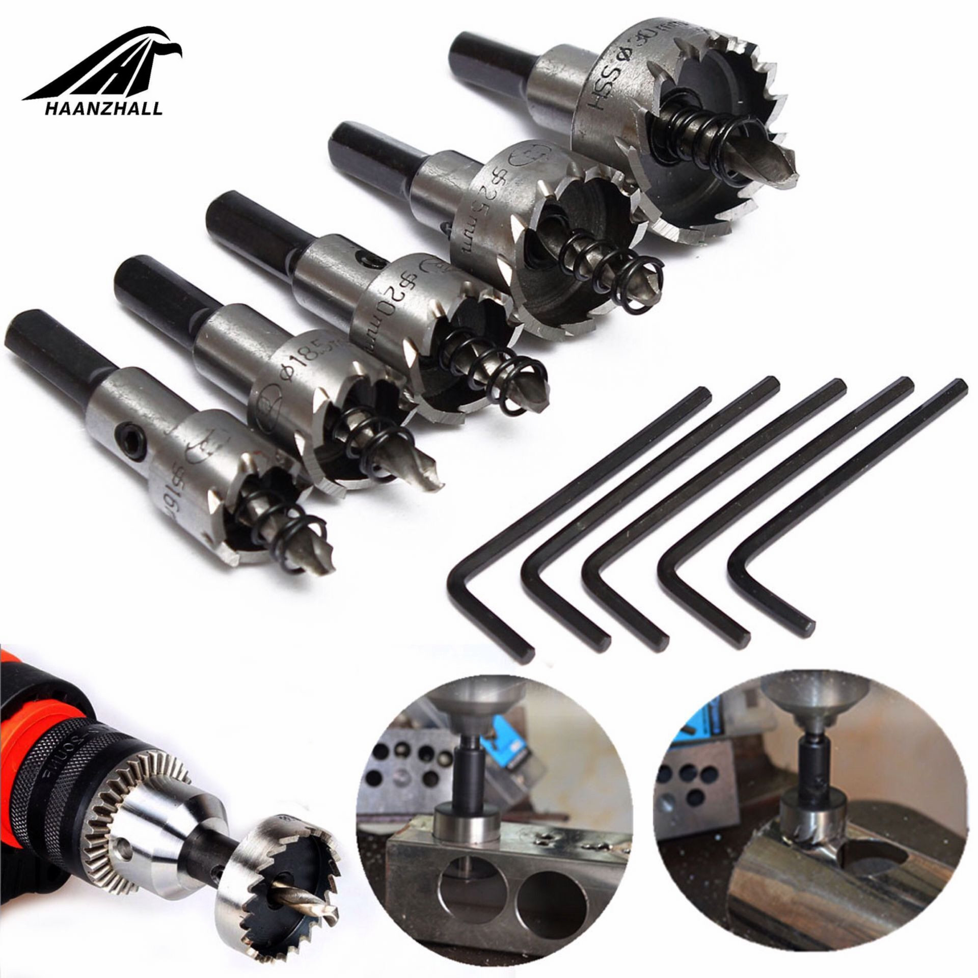 12mm-60mm Carbide Tip Hole Saw Drill Bit for Alloy Metal Stainless Steel