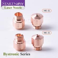 Startnow Bystronic Nozzle For Fiber Laser Single HK Double Layer NK Caliber 1.0 1.2 1.5 2.0 3.0 Cutting Machine Head Holder Jet
