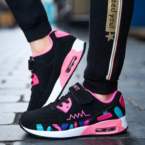 Image 5 - Sports Running Shoes Kids Girls Sneakers Teenager Trainers Breathable Casual Outdoor Tennis Shoes Girl Black Pink Big Size 37 38