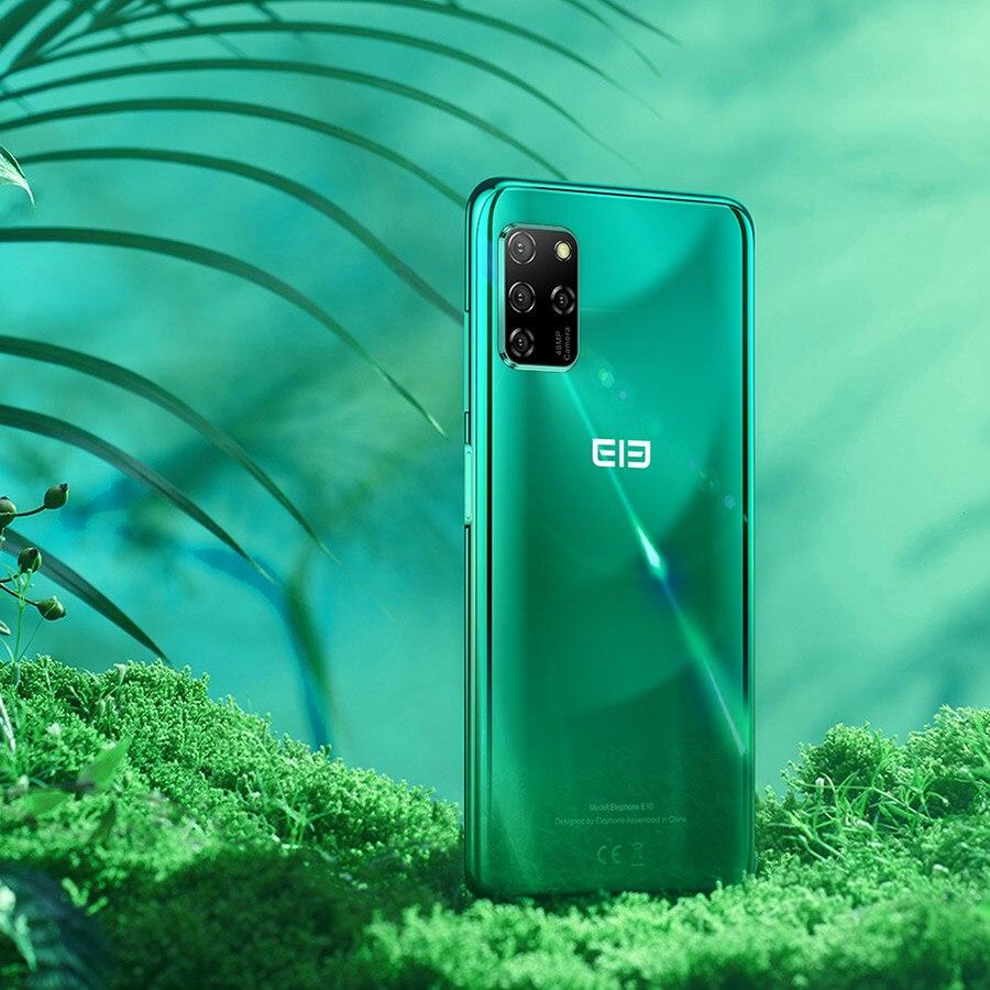 "ELEPHONE E10 Octa Core Smartphone 4GB 64GB 6.5"" Screen Quad Camera 48MP Main Cam Android 10 NFC Side Fingerprint Mobile Phone 5"