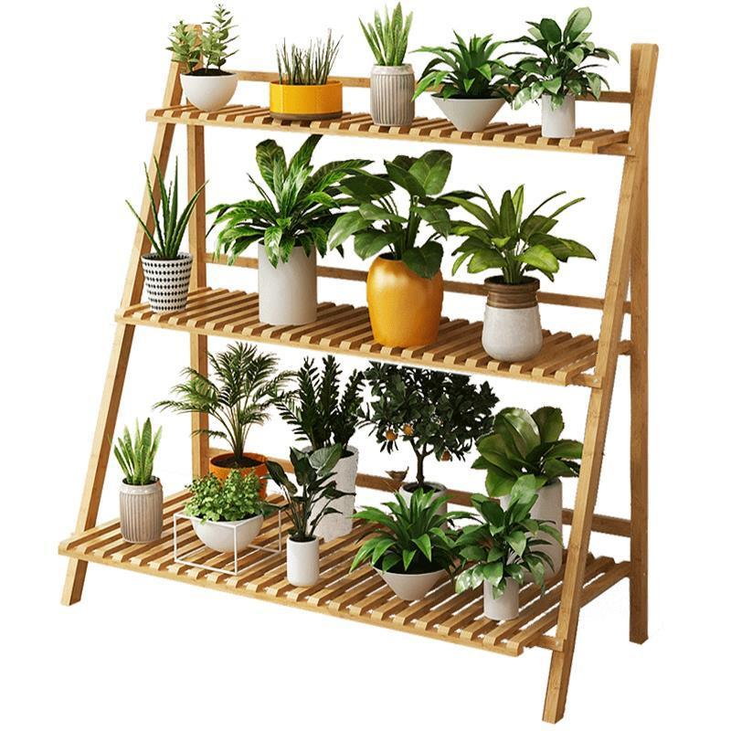 Escalera Decorativa Madera Pot Garden Shelves For Scaffale Porta Piante Rack Balcony Dekoration Outdoor Flower Stand Plant Shelf