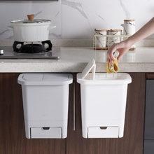Poubelle suspendue multifonction avec couvercle, pour la cuisine, Type tiroir, pour la maison, stockage des ordures, support de la boîte