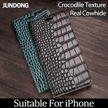 Luxury Phone Case For iPhone 6 7 8 Plus X Xs Max Case Crocodile texture Flip Cover For iPhone 6 6S Plus 6p 7p 8p case luxury phone case for iphone 6 7 8 plus x xs max case crocodile texture flip cover for iphone 6 6s plus 6p 7p 8p case