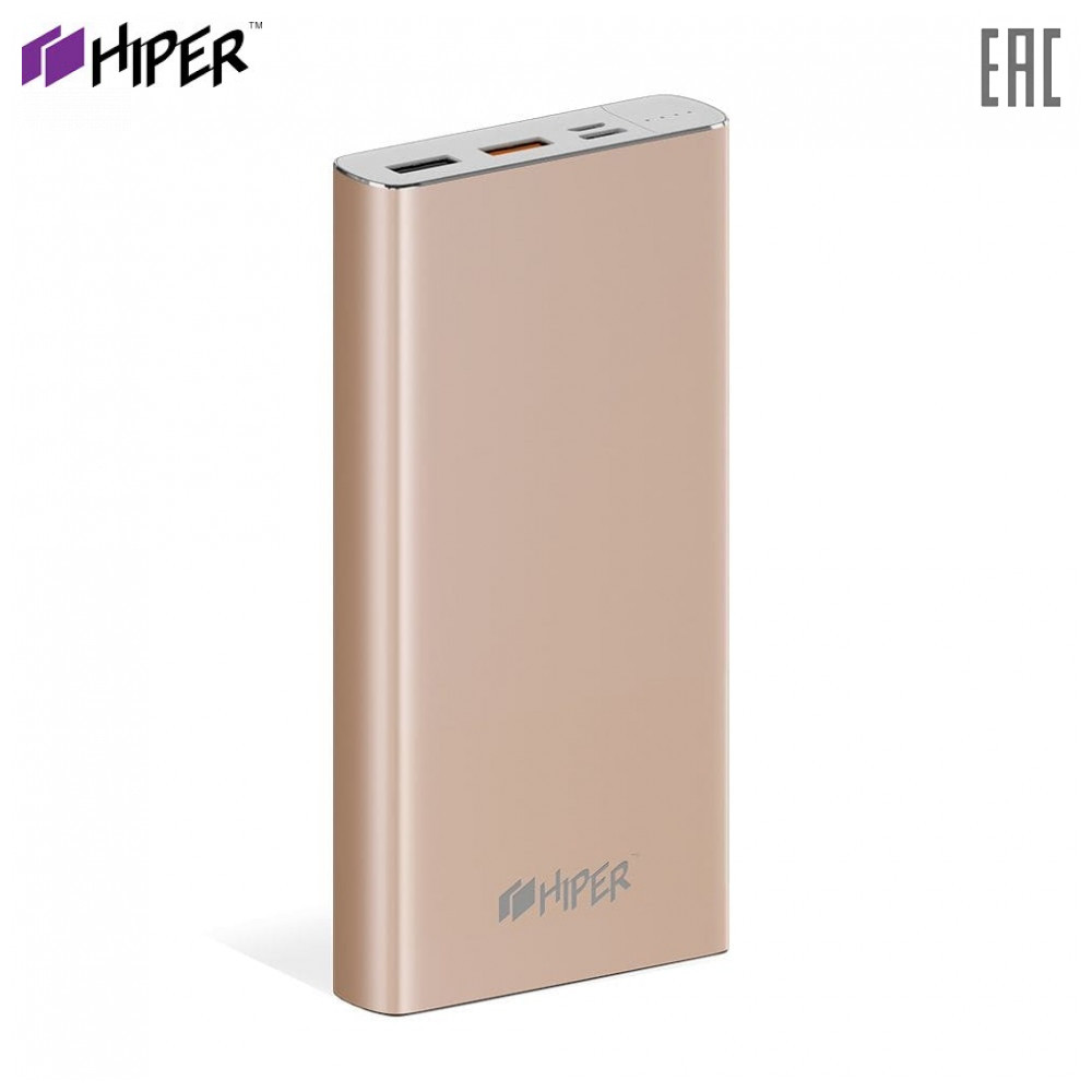 Power Bank HIPER MPX15000 fast charge PD QC type-c macbook connector charger compact power banks external battery Powerbank Li-Pol 15000mAh 15000 mAh