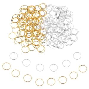 100pcs 14mm Hair Braid Rings Accessories Clips for Women and Girls Dreadlocks Beads Set Color Gold and Sliver