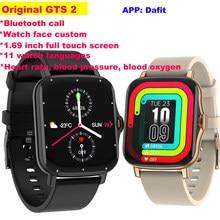 Reloj inteligente GTS 2 VS P8 para hombre y mujer, pulsera deportiva con control del ritmo cardíaco, Bluetooth y llamadas, personalizado