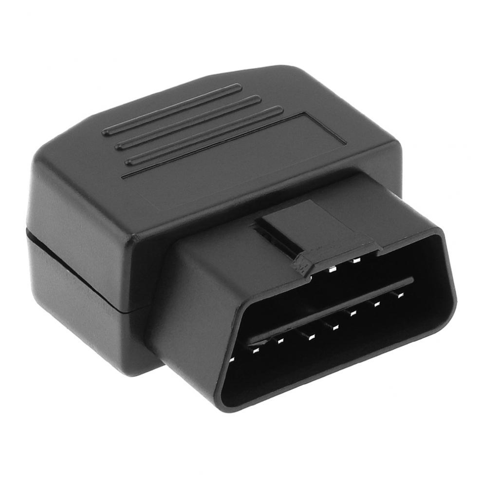 OBD II OBD2 DIY 16Pin Male Extension Opening Cable Car Diagnostic Interface Connector Plug Adapter With Shell And Screw