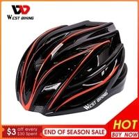 WEST RADFAHREN Ultraleicht Integral Geformten Fahrrad Helm Berg MTB Männer Frauen Fahrrad Helm Fahrrad Schutz Radfahren Ausrüstung