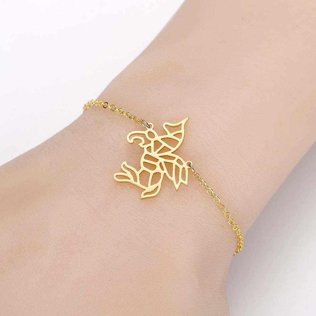 Wielkie jeziora gwiazda ptak tygrys syrenka drzewo niedźwiedź żółw jeleń bicie serca kot geometryczna bransoletka dla kobiet złoto i srebro