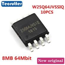 10 Uds. De memoria FLASH SPI NOR W25Q64JVSSIQ 25Q64JVSIQ SOP8 8MB 64Mbit 25Q64 W25Q64JV
