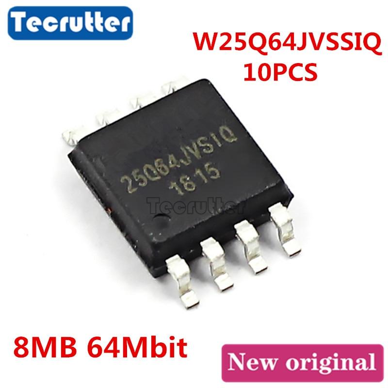 10PCS W25Q64JVSSIQ 25Q64JVSIQ SOP8 8MB 64Mbit 25Q64 W25Q64JV SPI NOR FLASH