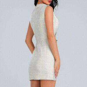 Image 5 - Короткое платье INDRESSME женское без рукавов, с треугольным вырезом