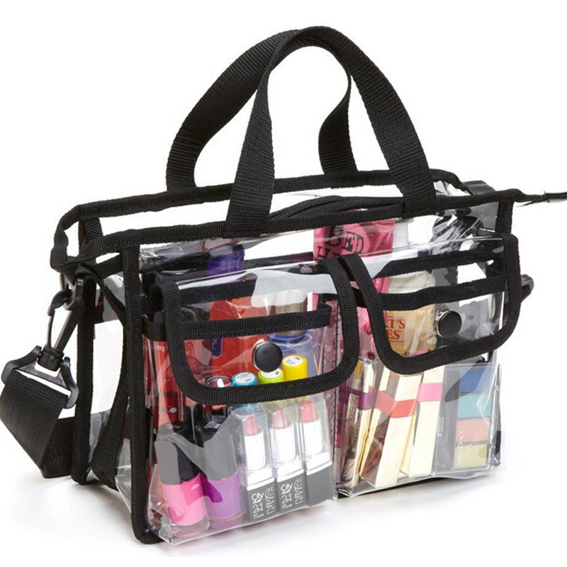 Transparent PVC Waterproof Large Cosmetic Bag Women Handbag Beauty Case Travel Organizer Beach Toiletry Pouch Clear Makeup Bag