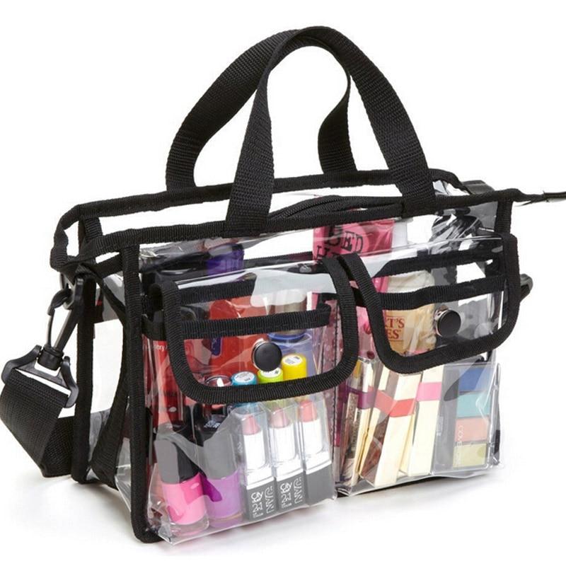 Transparent PVC Waterproof Large Cosmetic Bag Women Handbag Beauty Case Travel Organizer Beach Toiletry Pouch Clear Makeup Bag