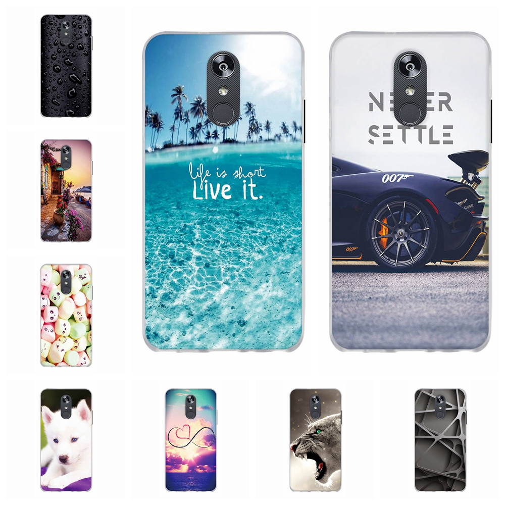 For LG Q Stylo 4 Case Ultra Slim Soft TPU Silicone Q710MS Cover Cute Animal Pattern Funda Bag