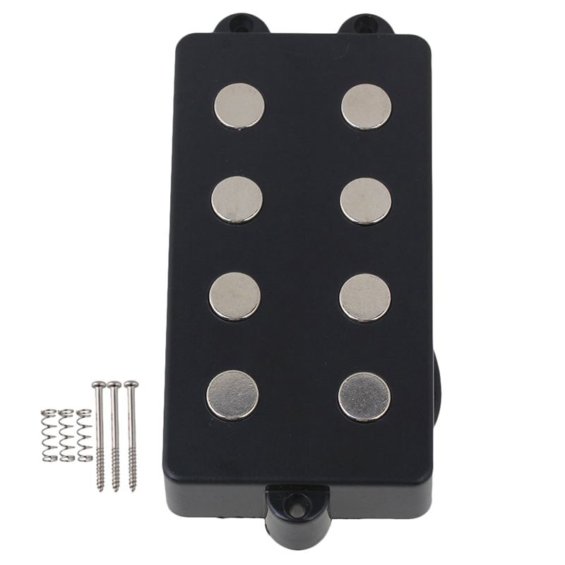 Noiseless Good Balance 4 String Bass Humbucker Double Coil Pickup Black For Bass Guitar
