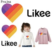 Prajna Likee App Patches Stickers On Clothes Heat-sensitive DIY Girls Clothes Iron On Transfers For Clothing Rainbow Heart Patch nicediy famous scientist patch heat transfers iron on patches for t shirt diy craft stickers applications for clothes decorative