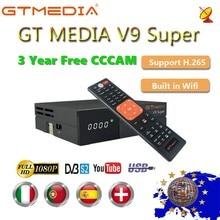 1080P كامل HD GT وسائل الإعلام V9 سوبر أوروبا Cline لمدة 3 سنوات استقبال الأقمار الصناعية H.265 واي فاي نفس DVB S2 GTmedia V8 نوفا مستقبلات