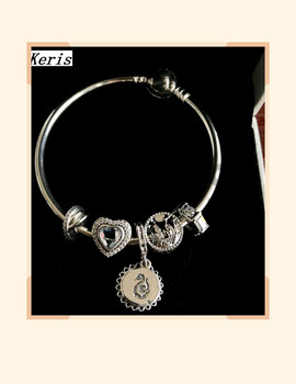 High Quality Original 1:1 100% Silver Inlaid Castle Design String Bracelet Free Package