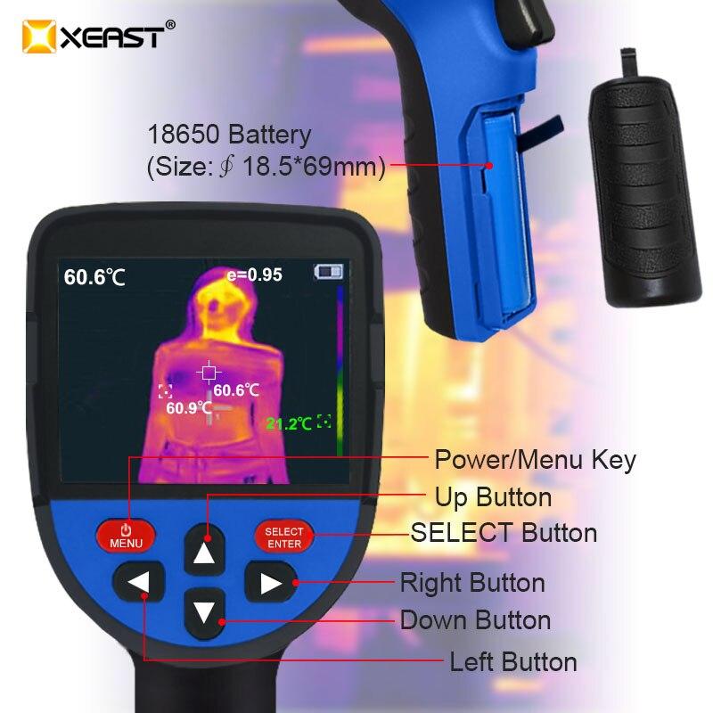 Szybka dostawa XEAST 2020 mierzalna temperatura ciała ultra-czysty obraz LCD obrazowanie w podczerwieni kamera noktowizyjna termowiz31/32