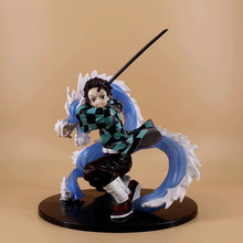 цена на Anime Demon Slayer Kimetsu no Yaiba Kamado Tanjirou PVC Action Figure Collectible Model doll toy 24cm