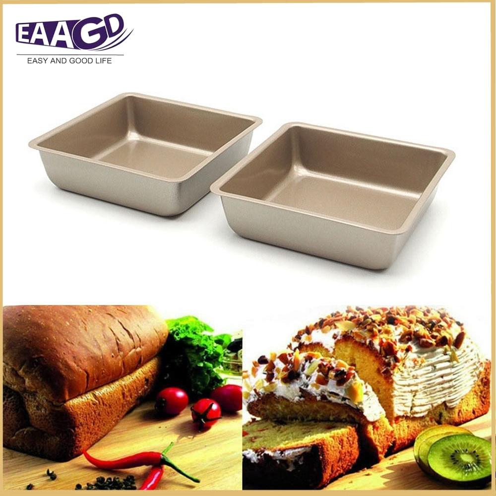 1 pces antiaderente 4 Polegada mini bandeja de pão retangular, aço carbono resistente fda aprovado, forno assar pão cozimento bolo pan