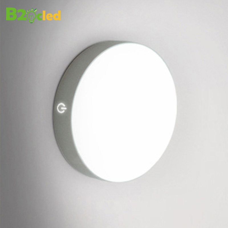 LED Motion Sensor Night Light USB Charging Human Body Induction Round Night Lamp Bedroom Bedside Wardrobe Magnetic Children Lamp