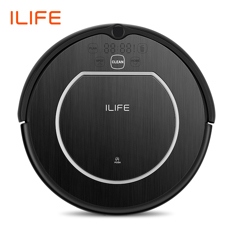 ILIFE V55Pro Robot Vacuum Cleaner Sweep Wet Mopping Virtual Wall Planned Cleaning Powerful Suction For Pet Hair Disinfection