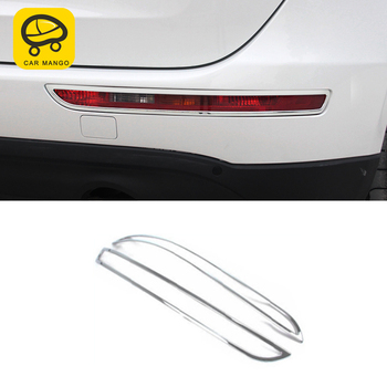 CarManGo For Audi Q5 B8 B9 2012-2017 Car Styling Rear Fog Light Lamp Cover Trim Frame Sticker Chrome Exterior Accessories