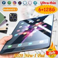 Hot Sale 10.1 Inch Ten Core 6G +128G Android 9.0 WiFi Tablets Dual SIM Dual Camera  8.0MP IPS Bluetooth 4G WiFi Tablets