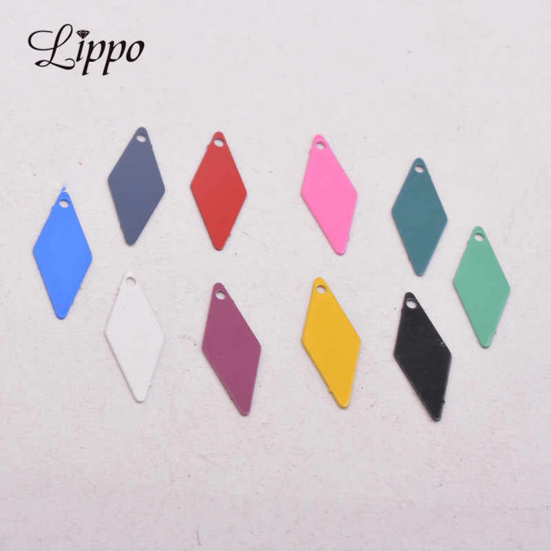 100pcs AC10969 7*18mm Square charms Rhombus Earring Pendant Findings For Woman Bijoux Geometric