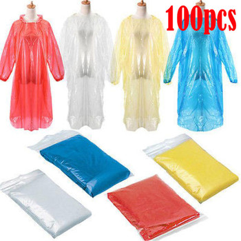 100pc Hiking Camping Wholesale Disposable Adult Unisex Outdoor Cycling Equipment Emergency Waterproof Rain Coat Poncho#4 image