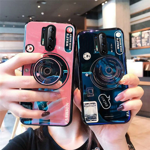 For OnePlue 8 Camera Blue Light Silicon Phone Case For OnePlue 5 5T 6 6T 7T 7 8 Pro Luxury Soft TPU Back Cover With Stand Holder(China)