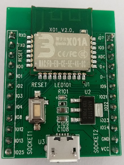 RDA5981/X01 Test Board / Wifi Module / Usb Host / Sd Card / Support WeChat / Communication