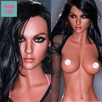166cm (5.45ft) Real Sized Sex Doll For Men Small Chest Tits Black Girl Milf Latina Porno Love Doll Flat Solid Silicone TPE Toys