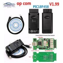 цена на 2017 Best OP-COM OP COM Original Chip Diagnostic Interface Auto Diagostic Tool for Opel Opcom V5 Version boards Free Shipping