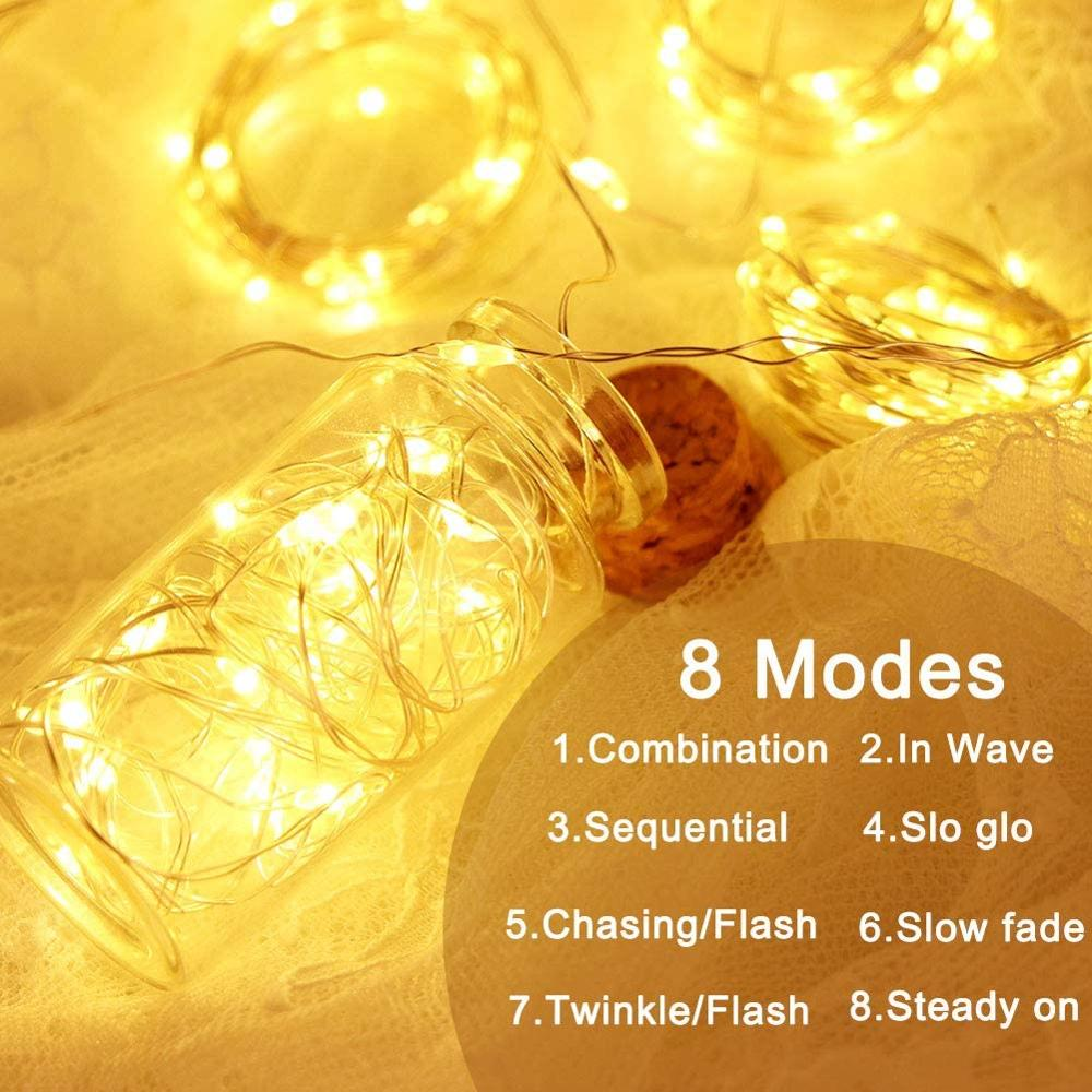 USB LED Curtain Light Fairy String Lights 8Mode 3X3M 3X1M 3X2M Fairy Garland For New Year Christmas Outdoor Wedding Home Decor 3