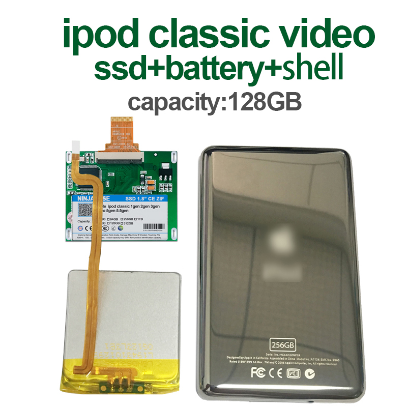 128g para Ipod Novo Classic 160 gb Ipod Vídeo 5th Substituir Mk3008gah Mk8010gah Mk1634gal Hdd Disco Rígido Ssd 7gen 7th