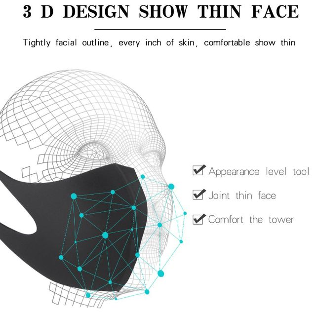 1pc Washable Unisex Universal Pollution Mask Anti Dust Flu Smoke Mask With Earloop Respirator Safety Mask 3
