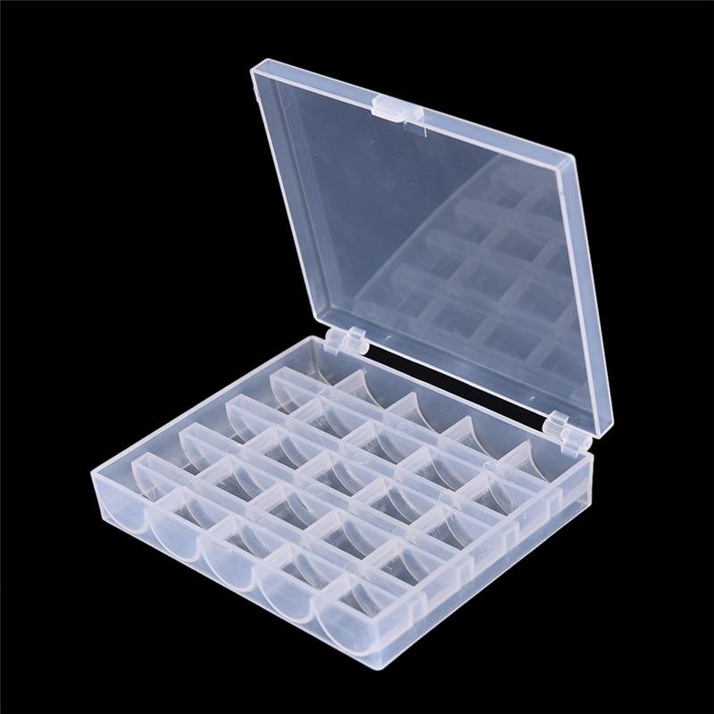 1 x Bobbin Box transparent Empty Bobbins Spools Box Bobbin Case Covers Sewing Tools Sewing Machine