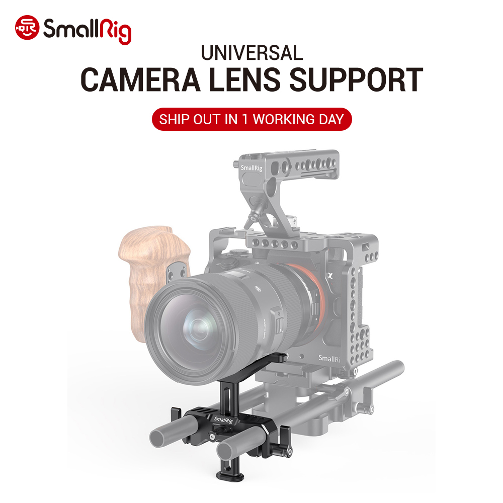 SmallRig DSLR Camera Lens Adapter Adjustable 15mm LWS Universal Lens Support for Long Lens Support Camera Rig 2681