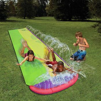 4.8x1.4m Surf 'N Double Water Slide Lawn Water Slides For Children Summer Pool Games Toys Backyard Outdoor Children's Waterslide
