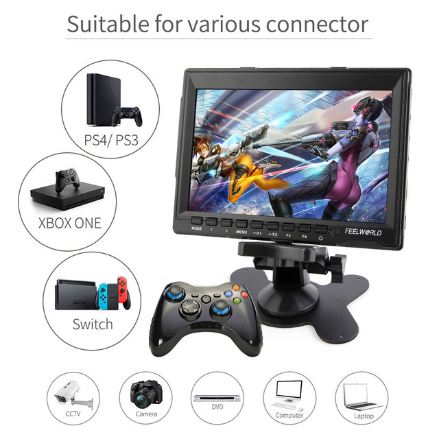 FEELWORLD 7 inch Portable LCD HD Gaming Monitor 4K HDMI IPS HD Screen Display Game Monitors for XBOX  5