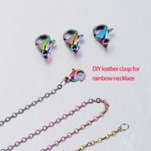 Jaymaxi arco-íris cor lagosta fecho ganchos de aço inoxidável diy jóias acessórios para colar pulseira 20 peças/lote