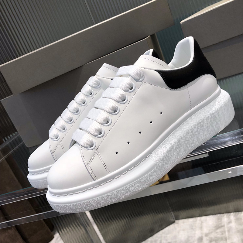 Luxury Designer Alexander Shoes Women High Platform Brand Female White Sneakers Casual Couple Shoes Men and Women Zapatos ER35|Women's Flats| - AliExpress