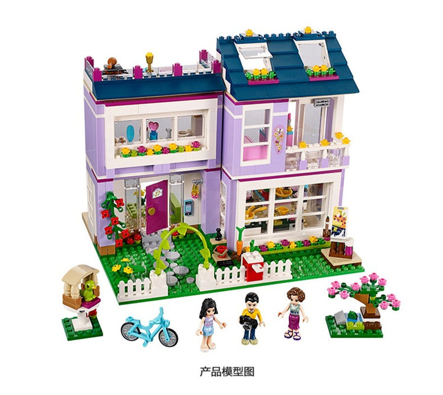 Image 4 - 10541 Compatible with Legoinglys Friends Emma's House 41095 Building Blocks Emma Mia Figure Educational Toys For Children Girl-in Blocks from Toys & Hobbies